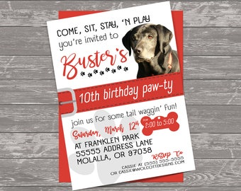 Pet Party Invitations, Dog Party Invitation, Puppy Birthday Party, Puppy Party Invitation, Furbaby Party, Fur Baby Party, Furbaby Invitation