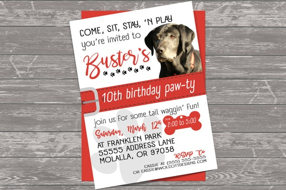 like this item - Dog Party Invitations
