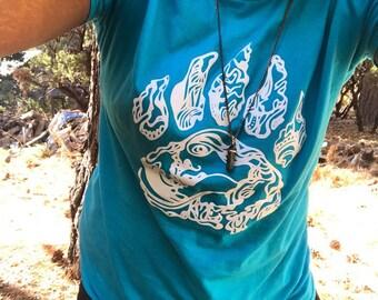 Blue T-Shirt w/ White Paw