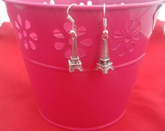 Eiffel Tower Silver Plated Drop Earrings, French Themed Jewellery, Small Jewelry Gifts For Her, France Inspired, Natural Wonders, Dangle