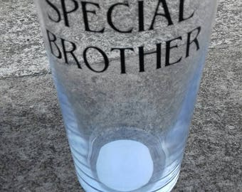Special Brother Pint Pot, Gift For Your Bro, Vinyl Pint Glass, Brothers Birthday Gift, Present To Say Thank You, Congratulations Gift,