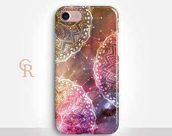 Mandala Phone Case For iPhone 8 iPhone 8 Plus iPhone X Phone 7 Plus iPhone 6 iPhone 6S  iPhone SE Samsung S8 iPhone 5 Spiritual Bohemian