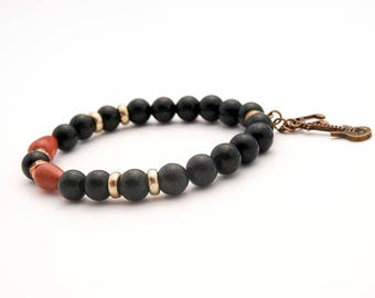 Green and Goldstone Aventurine beads  Bracelet, Green gemstone Bracelet, Stretch Beaded Bracelet, Charm Drop Bracelet, Music Jewelry