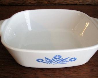 Vintage Corning Ware Casserole Dish Blue Cornflower 1 3/4 Cup