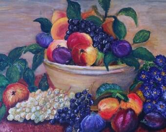 Fruit - still life acrylic on canvas
