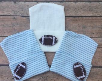 Football Newborn Hat - Baby Boy Hospital Hat - Football Hospital Hat - Newborn Boy Hospital Hat - baby boy hat - Boy Football hat - Footbal