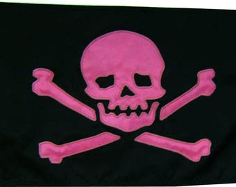 "Jolly Roger 12""x18"" Handsewn Pirate Flag"