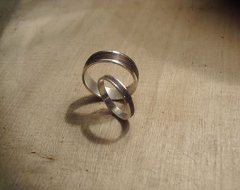 "Vincent ""made to order"" ring bearer silver and wood."