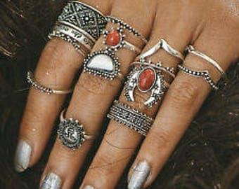 BOHO Knuckle Ring Set 13 piece