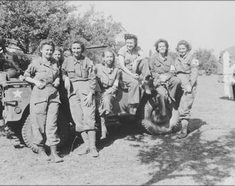 Poster, Many Sizes Available; Nurses Of A Field Hospital In France Aug 1944