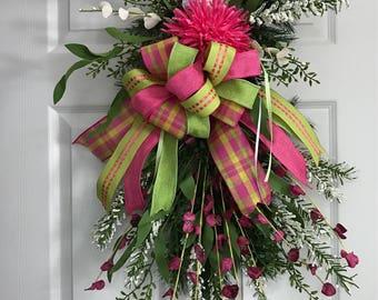 Spring Door Hanger , Summer Door Hanger , Summer Wreath , Spring Wreath, Wreath,Swag