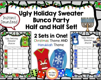 Ugly Holiday Sweater Bunco - Christmas AND Hanukkah Themed