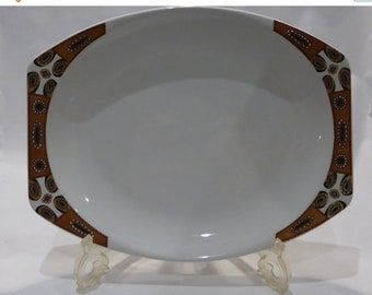 "50% off sale Meakin ""Maori"" serving platter – original from the 1960's"
