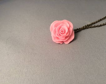 Glow in the dark Rose necklace in small medium or large, Beauty and the beast, Disney, Mothers Day, fantasy, spring, summer, Wedding, Bride
