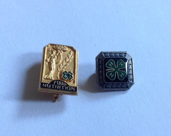 Lot  (2 PINS) Vintage 4-H AWARD Pins
