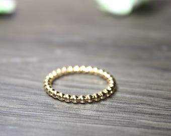 Stackable Gold Ring - Stacking Gold Ring - Gold Plated Ring