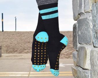 Star Crew Sticky Socks For Barre, Pilates, Yoga