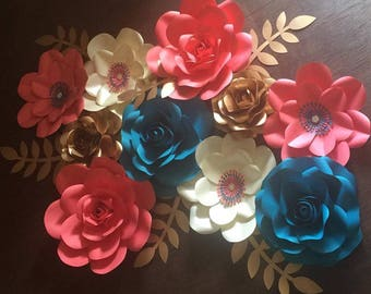 15 piece paper flower set