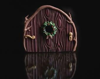 Holiday Wreath Fairy Door