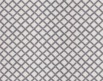 DESIGNER FRETWORK PRINT Cotton  Fabric 10 Yards Grey