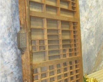 Printer Drawer Wood Block Typeset Tray Letterpress Thimble Shelf Display a20 Typeset Drawer, Letterpress Tray, Shadow Box