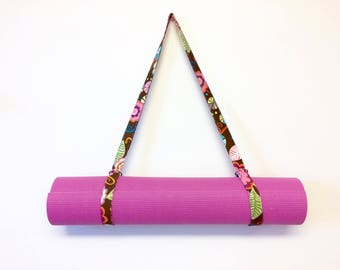 Yoga Mat Strap, Yoga Mat Sling, Exercise Mat Strap, Mat Carrier by 8th Day Encore