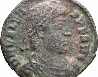 364 -  378 A.D Eastern Roman Empire Valens Bronze AE3 Coin Thessalonica Mint