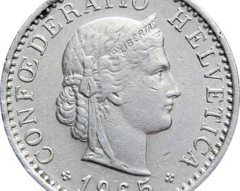 1965 20 Rappen Switzerland Coin
