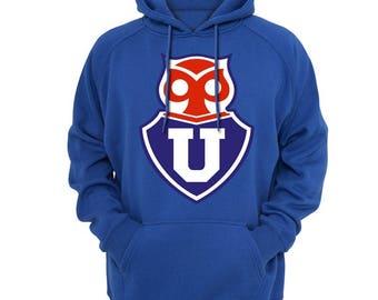 Club Universidad de Chile Hoodie Sweatshirt Fanatico La U, Chuncho Campeonato Liga Chilena