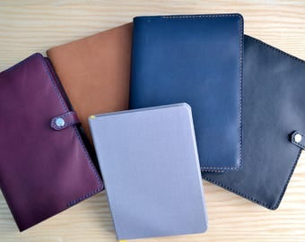 Baron Fig Confidant leather cover | Snap closure, all sizes, 4 Horween leather colours | Notebook leather cover | Journal leather refillable