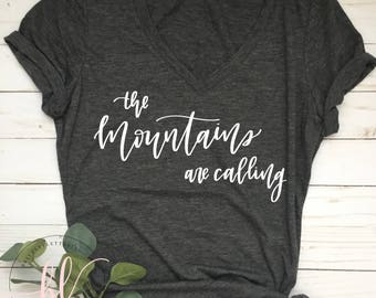 The Mountains Are Calling SVG - The Mountains Are Calling - Mountains Are Calling - Hand Lettered SVG