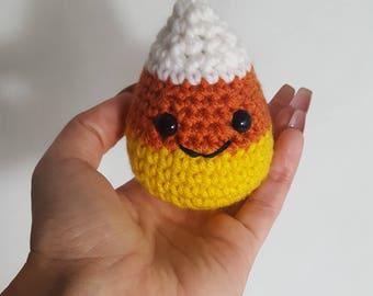 Crochet Candy Corn, Amigurumi Cany Corn, Crochet Halloween, Crochet Halloween Toy, Crochet Halloween Candy, Crochet Play Food