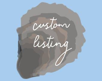 Custom Listing for Mrs. Jones