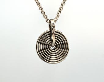 Spiral Pendant in Solid Sterling Silver