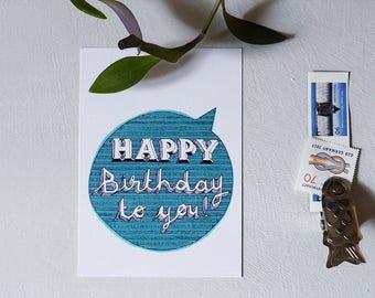 Happy Birthday to you - Postcard