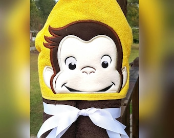 Curious George Hooded Towel with FREE Embroidered Name