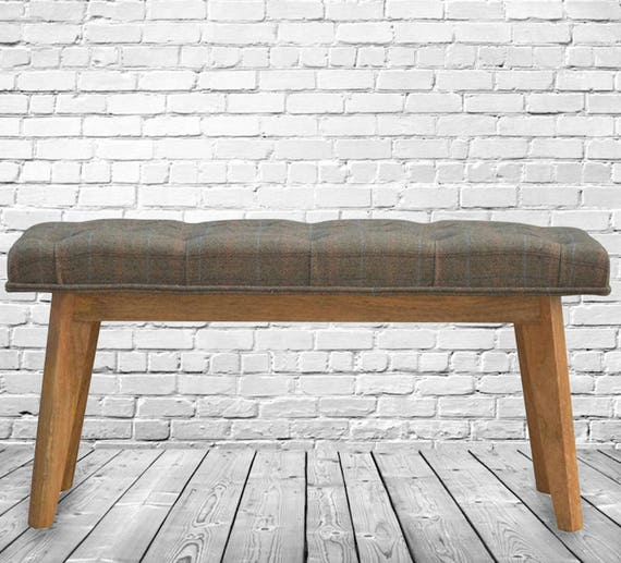 sc 1 st  Etsy & Wooden Upholstered Stool Bench. Multi Tweed Upholstery. Made islam-shia.org