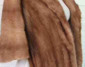 1960s Stole Fur Cinnamon Fur Wrap or Stole Real Fur