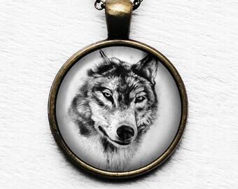 Wolf Head Pendant & Necklace