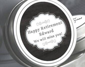 75 Retirement Mint Tins - RetireMints - Matinee - Retirement Favors - Retirement Decor - Retirement Mints - Retired Mints - Chalkboard Mints