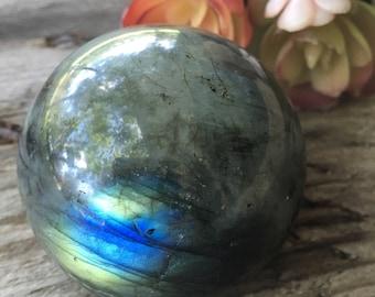 Labradorite, Sphere , New Moon, Crystal Sphere, Labradorite Sphere