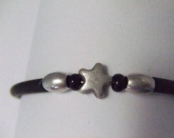 Black and silver memory bracelet