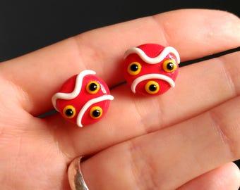 Studio Ghibli Earrings Mononoke's Mask