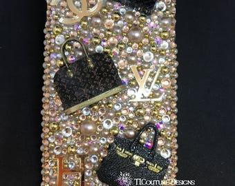Luxury Designer Brand Inspired Phone case -iPhone 5S/5C/6S/6Plus/7S/7Plus /8/8Plus/X Samsung Galaxy S4/S5/8/8+