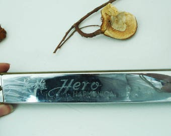 Vintage Harmonica Hero- Chinese Harmonica Hero- Old Harmonica Hero- Old Musical Instrument-Collectable - Retro Harmonica- Gift Idea