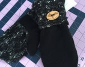 Black Sweater Mittens
