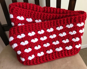Puppy Love Hearts infinity scarf