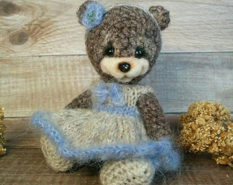 Miniature crochet bear by Zanina Julia (Занина Юлия)