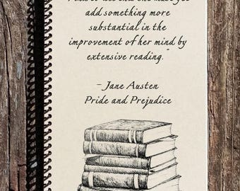 SALE - Pride and Prejudice Journal - Pride and Prejudice - Mr. Darcy - Elizabeth Bennett
