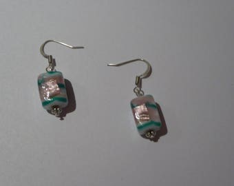 Earring hook glass beads